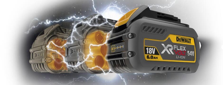 DeWalt XR FlexVolt - napětí 18V i 54V v jednom akumulátoru