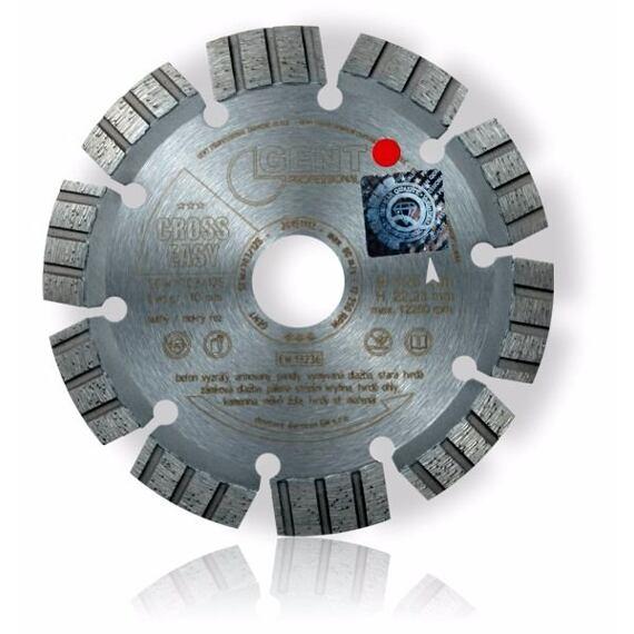 GENT diamantový kotúč 150mm CROSS EASY SCW/703/150/22,2, betón vyzretý armovaný, pálená krytina