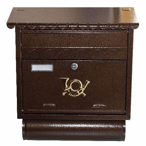 schránka poštová ST104 hnedá Antika 390*440mm 522173