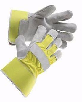 ČERVA rukavice CURLEW HiVis kombinované, žlté, veľ.10,5 hovädzia štiepenka 0101007379105